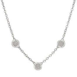 Колье Bvlgari  Bulgari Reversible 18 Karat White Gold Diamond Onyx 3 Circle Necklace