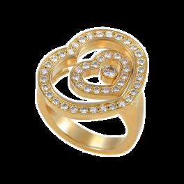 Кольцо с бриллиантом Chopard Happy Spirit Heart Ring 82/5649/0