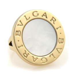 Кольцо Bvlgari  Mother of Pearl 18k Yellow Gold Circular Ring