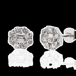 Серьги No name  с бриллиантами