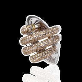 Кольцо с бриллиантом No name  с бриллиантами