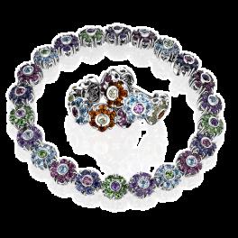 Комплект Pasquale Bruni  Multicolor Gemstones Fiore