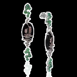 Серьги Stefan Hafner  с изумрудами и бриллиантами
