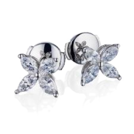 Серьги Tiffany & Co Platinum Small Victoria Earrings