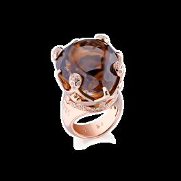 Кольцо с бриллиантом Pasquale Bruni Sissi Smoky Quartz Gold Ring 14599R