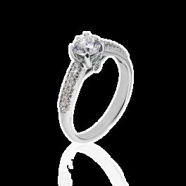 Кольцо с бриллиантом No name  0,5ct H/SI1