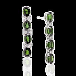 Серьги Margherita Burgener  с перидотами и бриллиантами