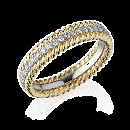Кольцо с бриллиантом No name  с бриллиантами в стиле Tiffany