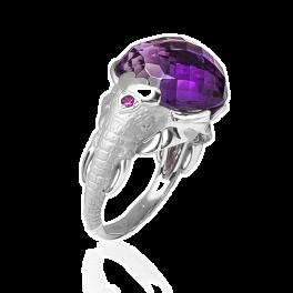 Кольцо Carrera y Carrera Elephant Amethyst Ring