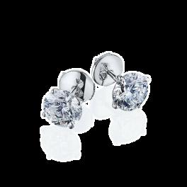 Серьги No name  с бриллиантами 1,05ct-1,08ct G/VS2