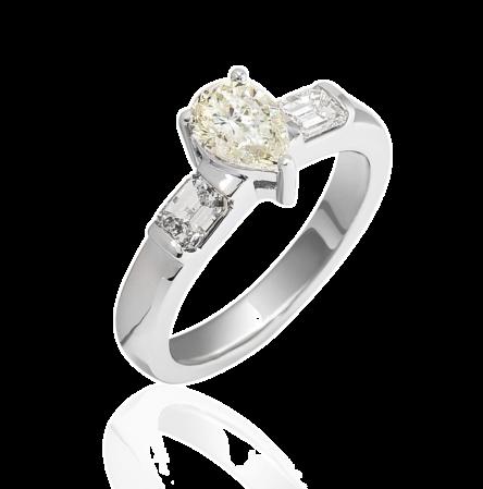 Кольцо с бриллиантом 1,00ct M/SI2
